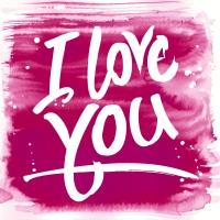 Servietten 25x25 cm - Pink love