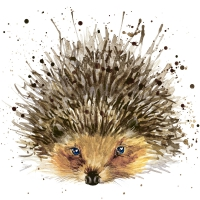 Servietten 24x24 cm - Cute hedgehog