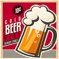 Servietten 24x24 cm - Cold beer