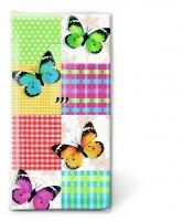 Taschentücher - Butterflies & squares