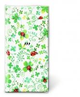 Taschentücher - Ladybugs on clover