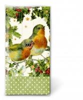 Taschentücher - Robins in green