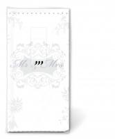 Taschentücher - Mr. & Mrs. silver