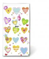 Taschentücher - Colourful hearts