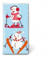 Taschentücher - Active snowmen