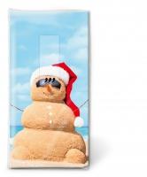 Taschentücher - Beach snowman