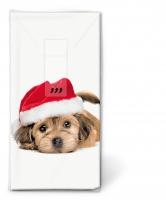 Taschentücher - Sweet Santa dog