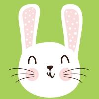 Servietten 24x24 cm - Cute Bunny
