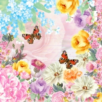 Servietten 24x24 cm - Butterfly charm