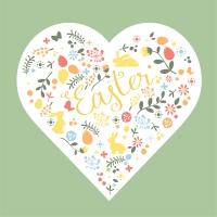 Servietten 33x33 cm - Easter Heart