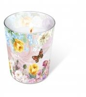 Glaskerze - Candle Glass Butterfly charm