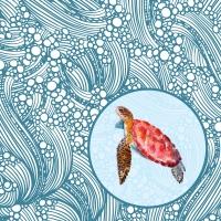 Servietten 33x33 cm - Tortoise