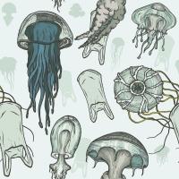 Servietten 33x33 cm - Jellyfishes