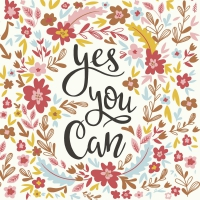 Servietten 33x33 cm - Yes you can
