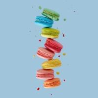 Servietten 33x33 cm - Macarons