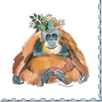 Servietten 33x33 cm - Orangutan