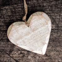 Servietten 33x33 cm - Wooden Heart