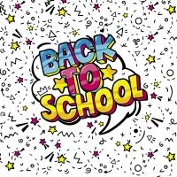 Servietten 33x33 cm - Back to School
