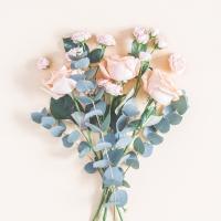 Servietten 33x33 cm - Peach Roses