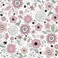 Servietten 33x33 cm - Modern Floral