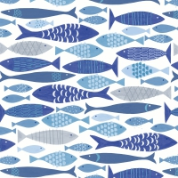 Servietten 24x24 cm - Shoal of fish