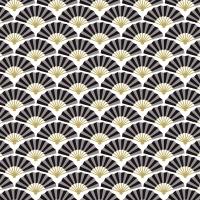 Servietten 33x33 cm - Silk pattern black