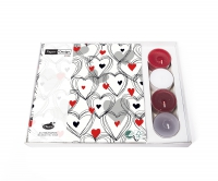 Combibox  - Shower of hearts red
