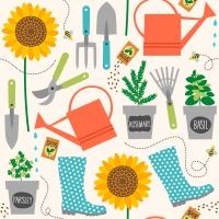 Servietten 24x24 cm - Gardening