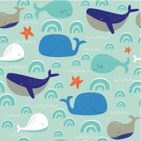 Servietten 24x24 cm - Whales