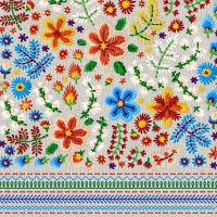 Servietten 25x25 cm - Embroidery