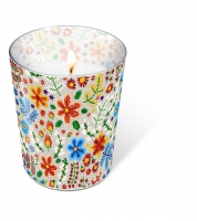 Glaskerze - Embroidery