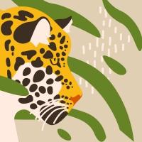 Servietten 24x24 cm - Amur Leopard