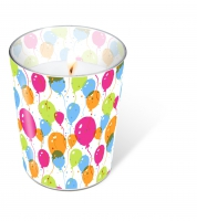 Glaskerze - Candle Glass Splash Balloons
