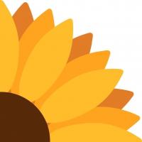 Gestanzte Servietten - Sunflower