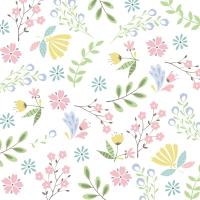 Servietten 33x33 cm - Pastel florals