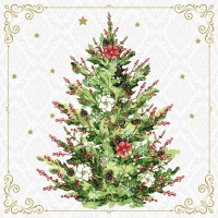 Servietten 24x24 cm - Christmas Tree