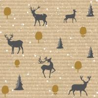 Servietten 33x33 cm - Deer Forest