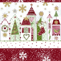 Servietten 24x24 cm - Christmas road