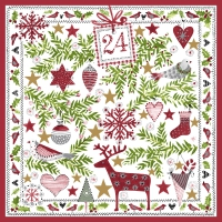 Servietten 33x33 cm - Miniatures of Xmas