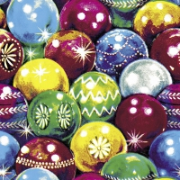 Servietten 33x33 cm - Retro Balls