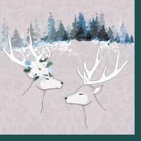 Servietten 33x33 cm - Deer love