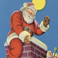 Servietten 33x33 cm - Chimney Santa