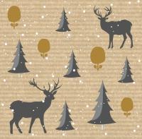 Servietten 40x40 cm - Deer Forest