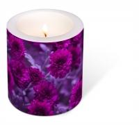 Dekorkerze - Decorated Fuchsia Flowers