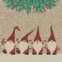 Servietten 33x33 cm - Happy Santas
