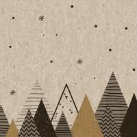 Servietten 33x33 cm - Graphic trees