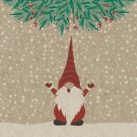 Servietten 24x24 cm - Happy Santas