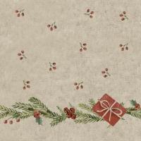 Servietten 24x24 cm - Misteltoe with presents