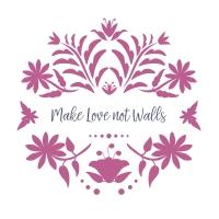 Servietten 33x33 cm - Love no walls