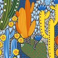 Servietten 33x33 cm - Cacti color